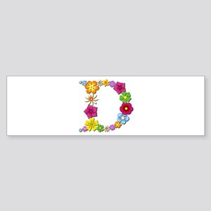 D Bright Flowers Bumper Sticker