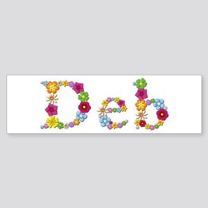 Deb Bright Flowers Bumper Sticker