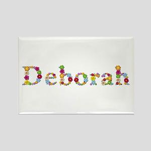 Deborah Bright Flowers Rectangle Magnet