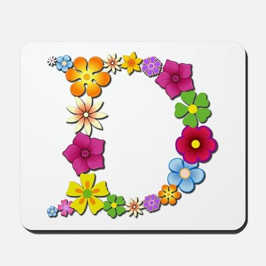 D Bright Flowers Mousepad