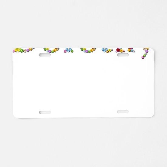 Dorothy Bright Flowers Aluminum License Plate