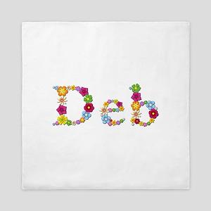 Deb Bright Flowers Queen Duvet