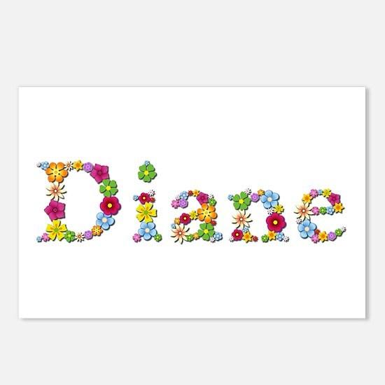Diane Bright Flowers Postcards 8 Pack