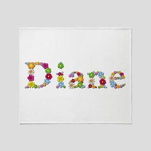 Diane Bright Flowers Throw Blanket