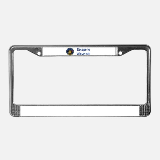 Wisconsin State Seal Motto #4 License Plate Frame