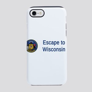 Wisconsin State Seal Motto #4 iPhone 7 Tough Case