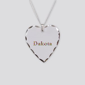 Dakota Bright Flowers Heart Necklace