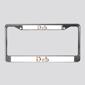 Deb Bright Flowers License Plate Frame