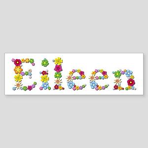 Eileen Bright Flowers Bumper Sticker