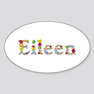 Eileen Bright Flowers Oval Sticker