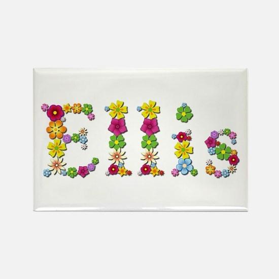 Ellis Bright Flowers Rectangle Magnet
