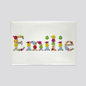 Emilie Bright Flowers Rectangle Magnet
