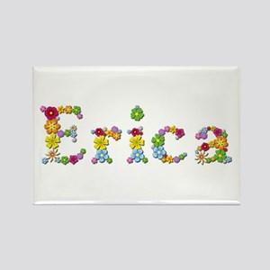 Erica Bright Flowers Rectangle Magnet