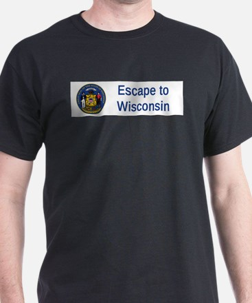 Wisconsin State Seal Motto #4 T-Shirt