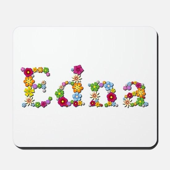 Edna Bright Flowers Mousepad