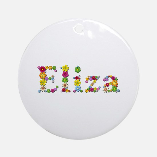 Eliza Bright Flowers Round Ornament