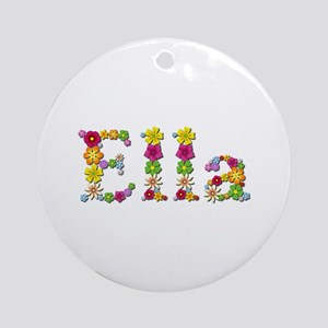 Ella Bright Flowers Round Ornament