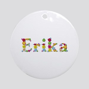 Erika Bright Flowers Round Ornament