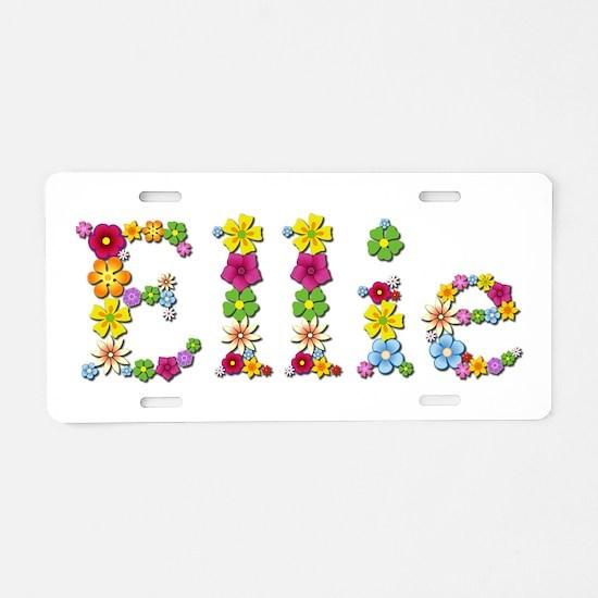 Ellie Bright Flowers Aluminum License Plate