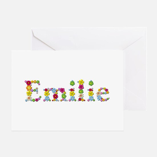 Emilie Bright Flowers Greeting Card