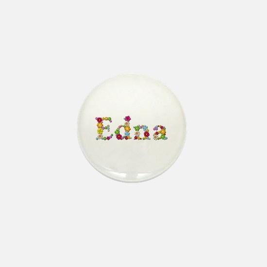 Edna Bright Flowers Mini Button