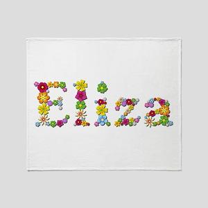Eliza Bright Flowers Throw Blanket