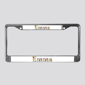 Emma Bright Flowers License Plate Frame