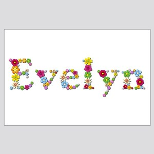 Evelyn Bright Flowers Large Poster