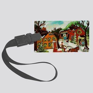 Fetching the Christmas Tree Large Luggage Tag