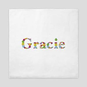Gracie Bright Flowers Queen Duvet