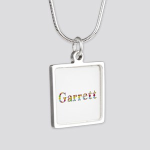 Garrett Bright Flowers Silver Square Necklace