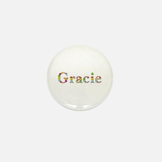 Gracie Bright Flowers Mini Button