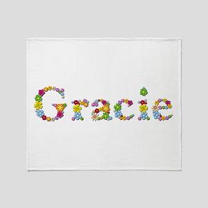 Gracie Bright Flowers Throw Blanket