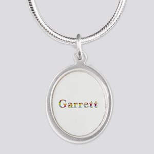 Garrett Bright Flowers Silver Oval Necklace