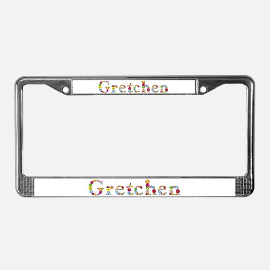 Gretchen Bright Flowers License Plate Frame