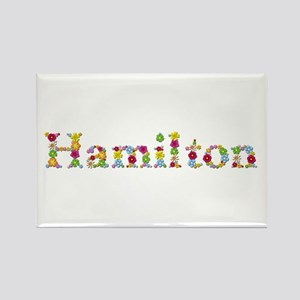 Hamilton Bright Flowers Rectangle Magnet