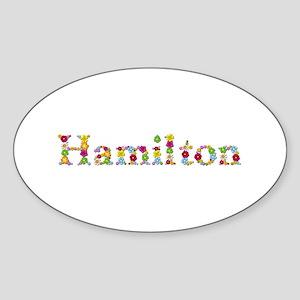 Hamilton Bright Flowers Oval Sticker