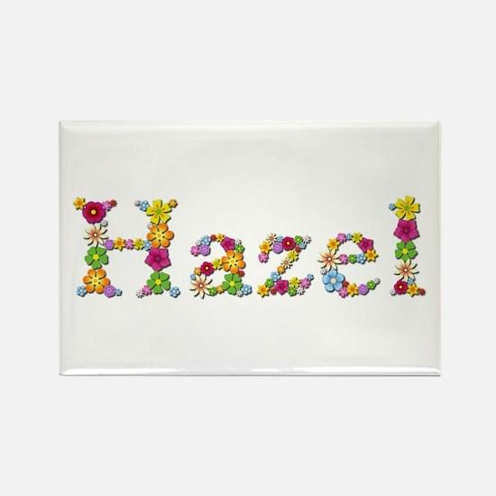 Hazel Bright Flowers Rectangle Magnet