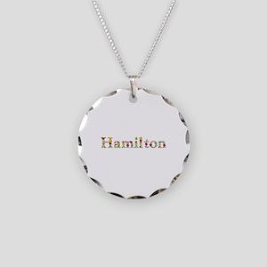 Hamilton Bright Flowers Necklace Circle Charm