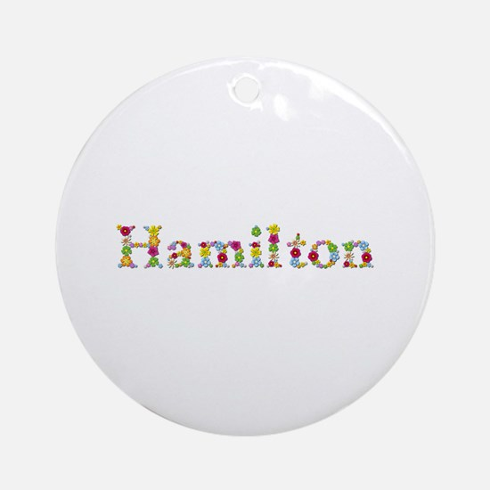 Hamilton Bright Flowers Round Ornament