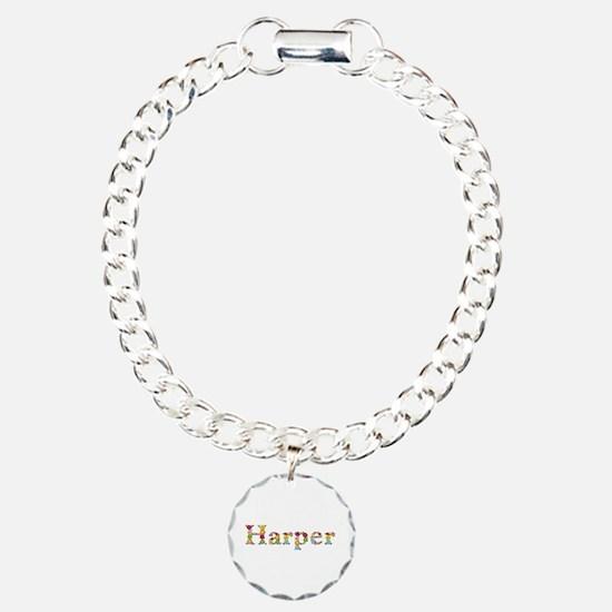 Harper Bright Flowers Charm Bracelet