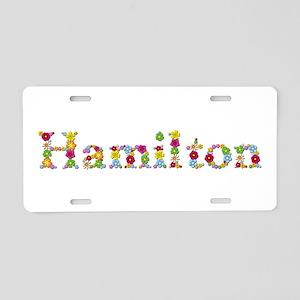 Hamilton Bright Flowers Aluminum License Plate