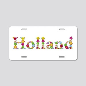Holland Bright Flowers Aluminum License Plate