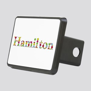Hamilton Bright Flowers Rectangular Hitch Cover