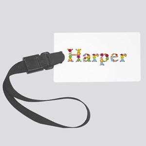 Harper Bright Flowers Large Luggage Tag
