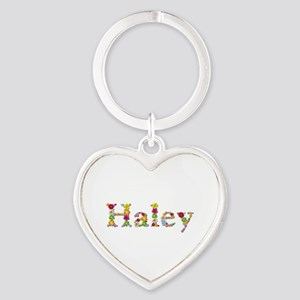 Haley Bright Flowers Heart Keychain