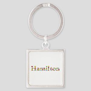 Hamilton Bright Flowers Square Keychain