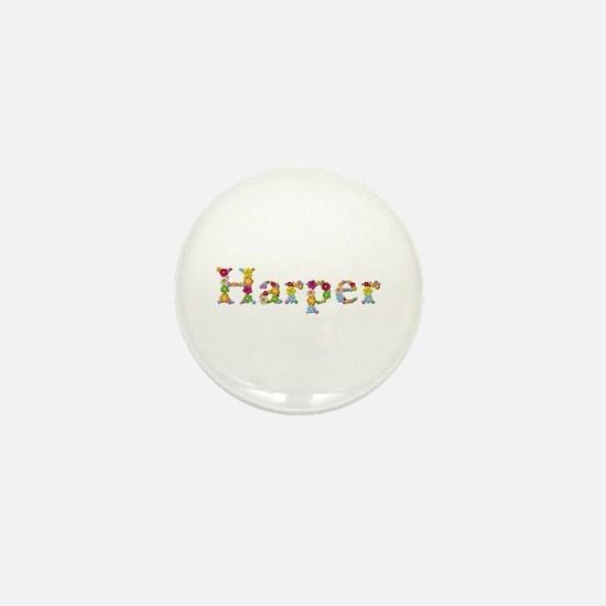 Harper Bright Flowers Mini Button