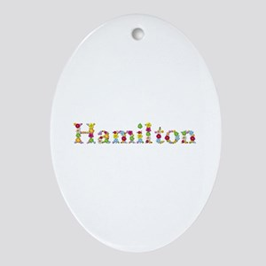Hamilton Bright Flowers Oval Ornament