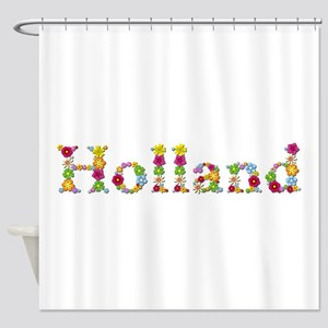 Holland Bright Flowers Shower Curtain